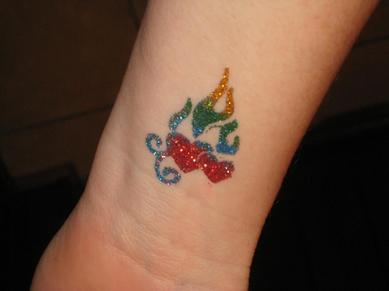 Designs by jenn temporary glitter tattoos for Where to get glitter tattoos